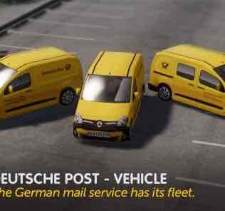 Мод Deutsche Post - Vehicle для Cities Skylines