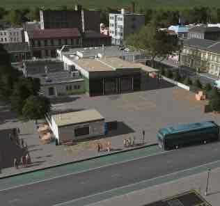 Мод BTB Small Bus Garage для Cities Skylines