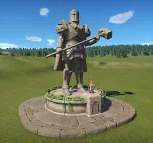 Medieval/Fantasy Knight Statues для Planet Coaster