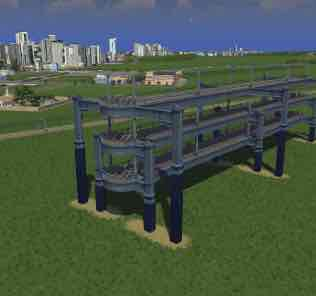 Мод Rail-Over-Road Train Tracks для Cities Skylines