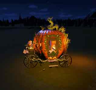 Spooky Cinderella Pumpkin Carriage для Planet Coaster