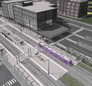 Мод Tram - Bus - Hub для Cities Skylines
