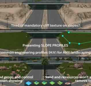 Мод Basic Slope Profiles для Cities Skylines