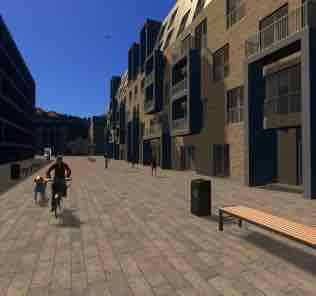 Мод Contemporary Pedestrian Street для Cities Skylines