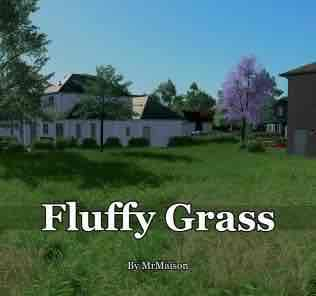 Мод Fluffy Grass для Cities Skylines