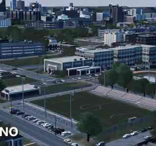 Мод High School Soccer Field для Cities Skylines
