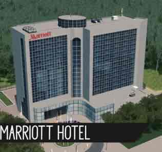 Мод Marriott Hotel для Cities Skylines