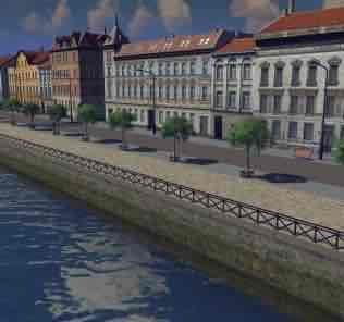 Мод Old stone quay - Fenced для Cities Skylines