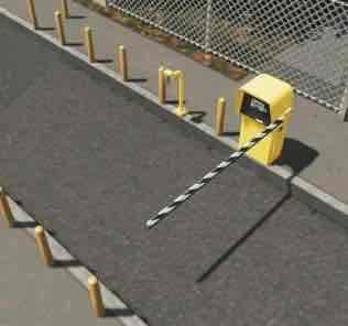 Мод Parking Gate Set для Cities Skylines