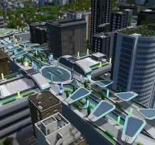 Мод Quad Utopian Platform для Cities Skylines