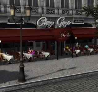 Мод Restaurant Tables and Chairs [Paris] для Cities Skylines