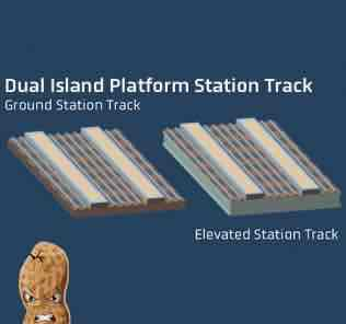 Мод Set of Dual Island Platform Station Tracks для Cities Skylines
