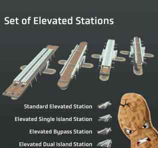 Мод Set of Elevated Stations для Cities Skylines