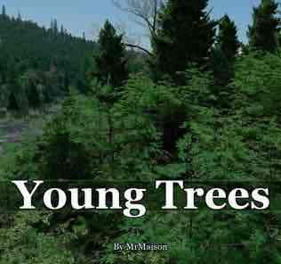 Мод Young Trees для Cities Skylines