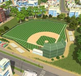 Мод Baseball Field для Cities Skylines