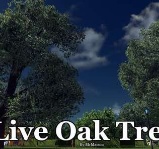 Мод Live Oak Tree для Cities Skylines