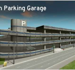 Мод Medium Parking Garage / Multi-storey Car Park для Cities Skylines