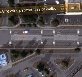 Мод Pedestrian Sidewalk для Cities Skylines