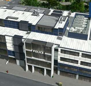 Мод Police Headquarters для Cities Skylines