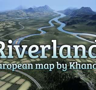 Мод Riverlands для Cities Skylines