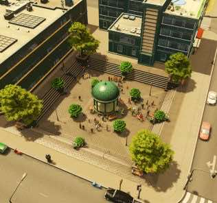 Мод Sunken Plaza для Cities Skylines