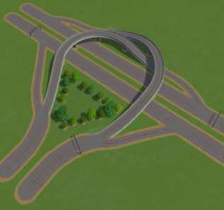 Мод Timboh's T-Bone Interchange для Cities Skylines
