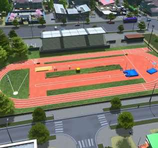 Мод Track and field для Cities Skylines