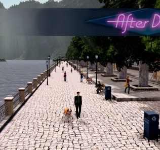 Мод Walkway + parking lot with 18 slots by vip для Cities Skylines