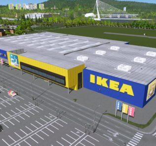 Мод IKEA Mannheim (ploppable RICO) для Cities Skylines