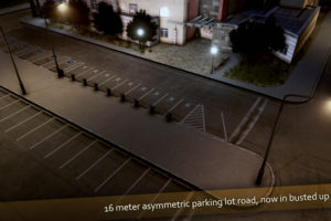 Мод Parking Lot Roads - 16m Poorly Maintained Parking для Cities Skylines