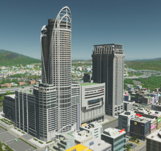 Мод Quad's Central World Series 3 для Cities Skylines