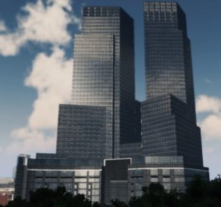 Мод Time Warner Center для Cities Skylines